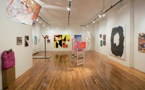 "Installation view of ""The Working Title"", a group show on abstraction curated by Progress Report and exhibited at the Bronx River Arts Center, March 25 through April 29, 2011."