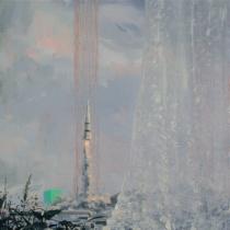 "Ian Whitmore | The Bells Through the Leaves, 2008-2012, 16"" x 16"", oil on linen (courtesy G Fine Art)"