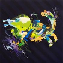 Tomokazu Matsuyama | Kirin (Black Stripe), 2009, acrylic on canvas. 48 x 48 in. Courtesy of the artist.