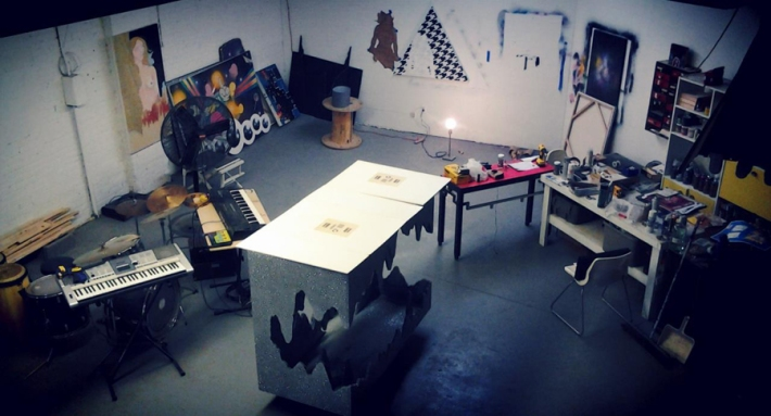 Felipe Pereira Goncalves' studio in Baltimore.