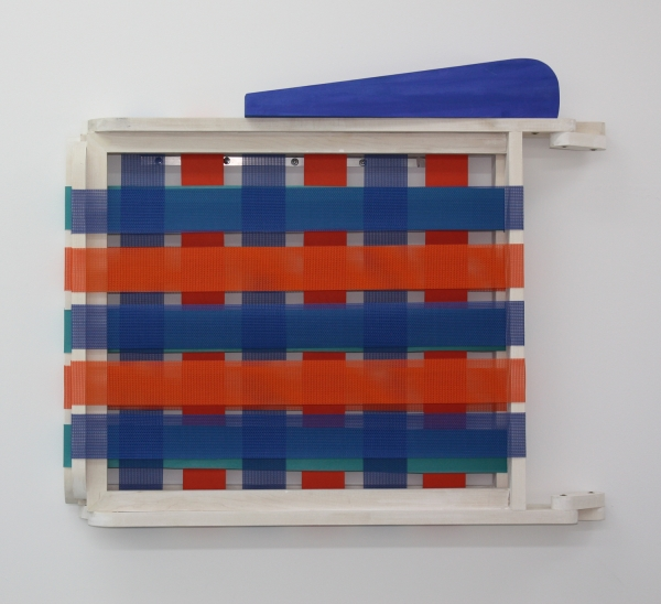 Patrick McDonough | 122809-lawn chair, Wood, Paint, Outdoor Furniture Fabric, Hardware