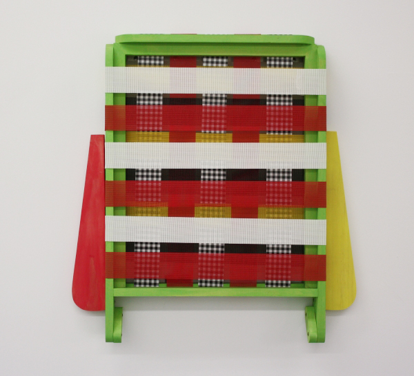 Patrick McDonough| 122909-lawn chair, Wood, Paint, Outdoor Furniture Fabric, Hardware