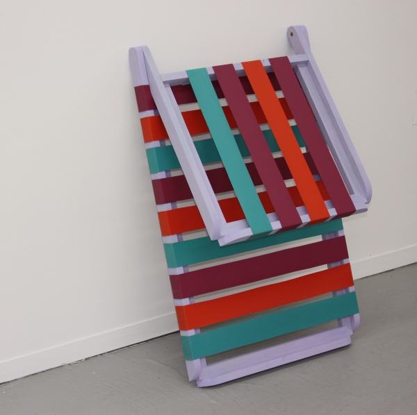 Patrick McDonough| 123009-lawn chair, Wood, Paint, Outdoor Furniture Fabric, Hardware