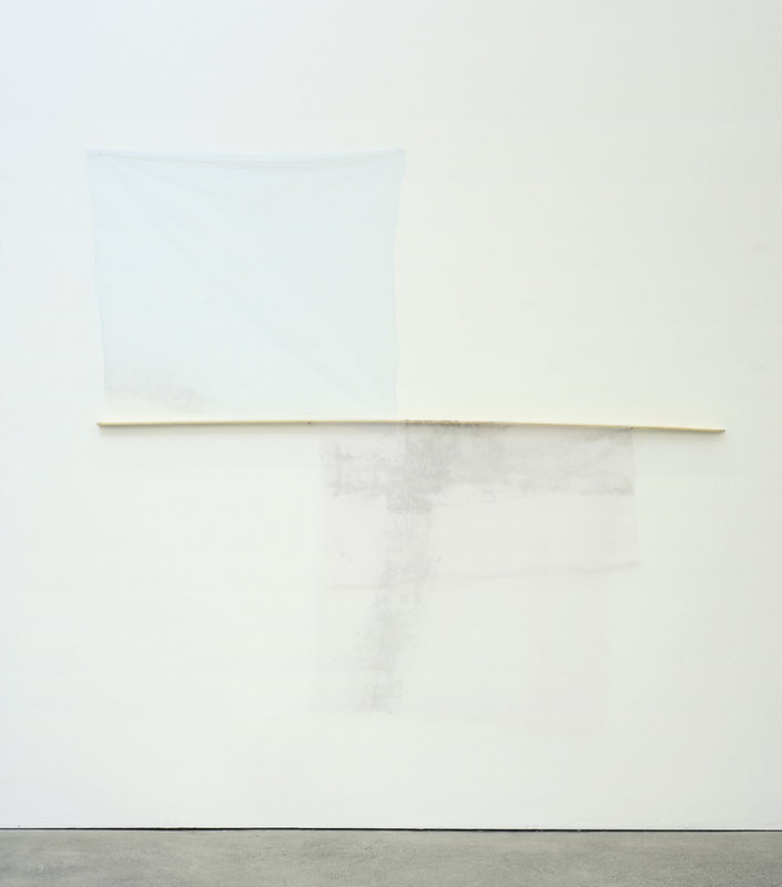 Mitzi Pederson, Untitled, 2014, Tulle, wood, ink, 68 x 76 x 1 inches. Courtesy of Ratio 3