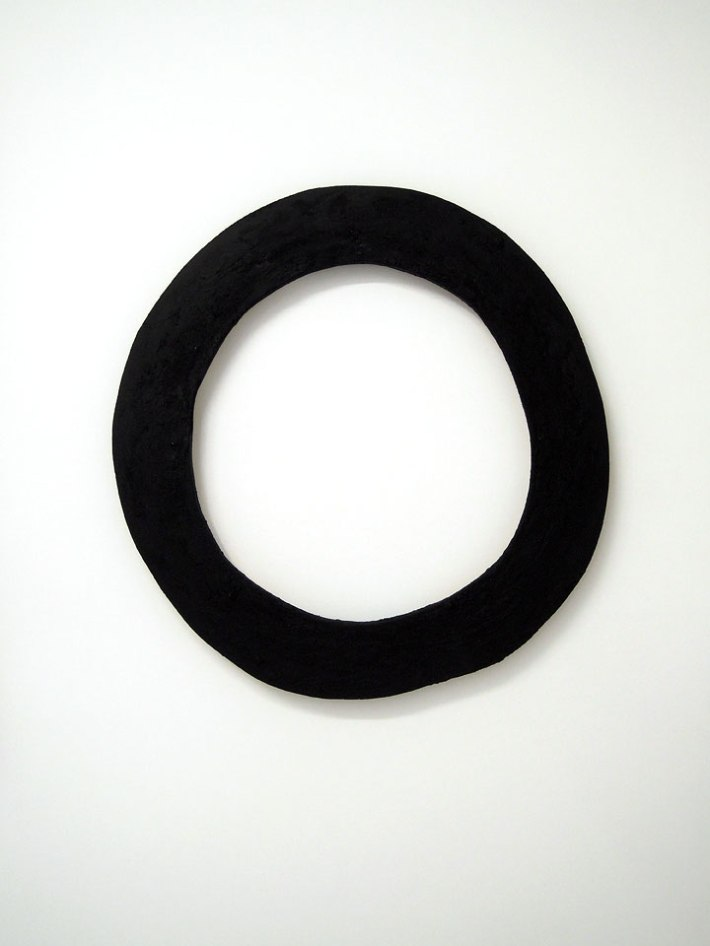 """Ring"" 2013. MDF, spackle, black paint"