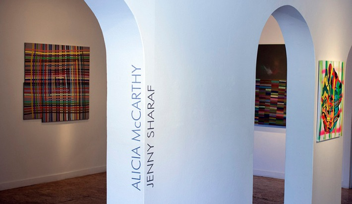 Alicia McCarthy, Jenny Sharaf. Installation shot. Image courtesy of Johansson Projects