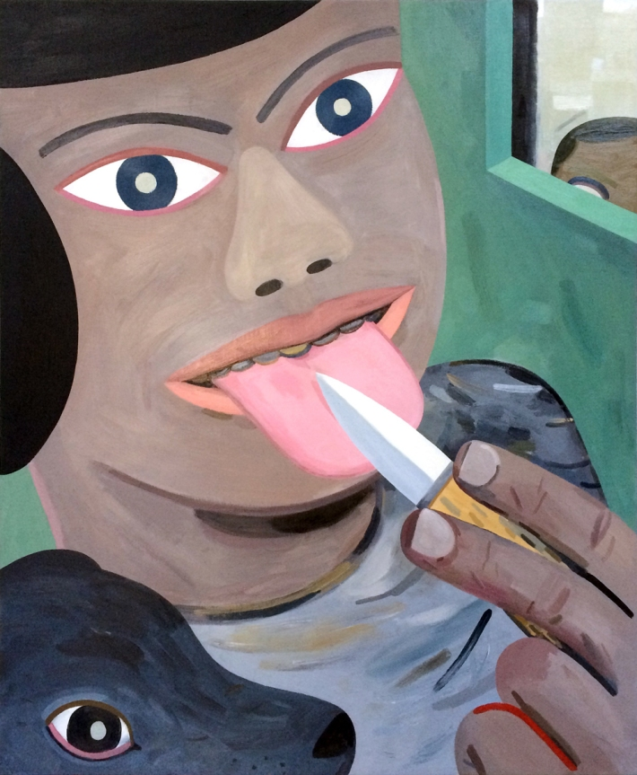 "Jason Jägel | Intending to Grasp the Netter, 2013. Oil on linen on board. 48"" x 40"". Courtesy of the artist and Gallery 16"