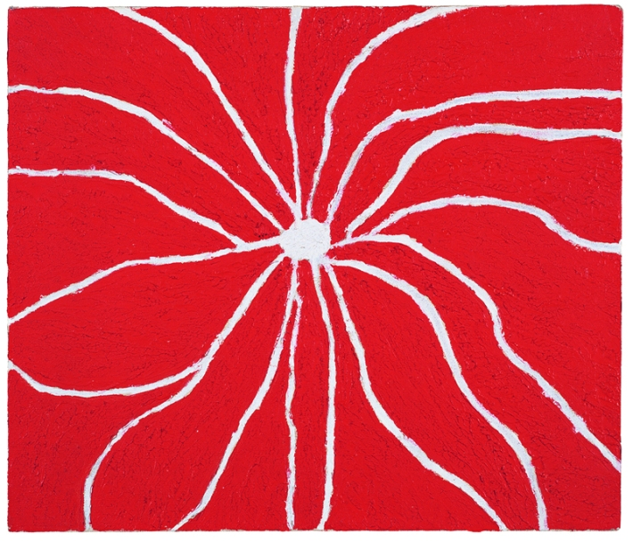 Forrest Bess | Untitled (The Spider), 1970; oil on canvas, 13 ¾ x 16 1/8 in.; collection of Christian Zacharias.
