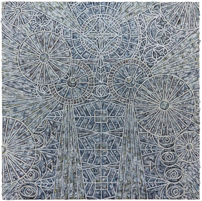 Helen Rebekah Garber | Haniel I, 2014, Oil on linen, 60 x 60 inches (152.4 x 152.4 cm), Courtesy of Gallery Wendi Norris