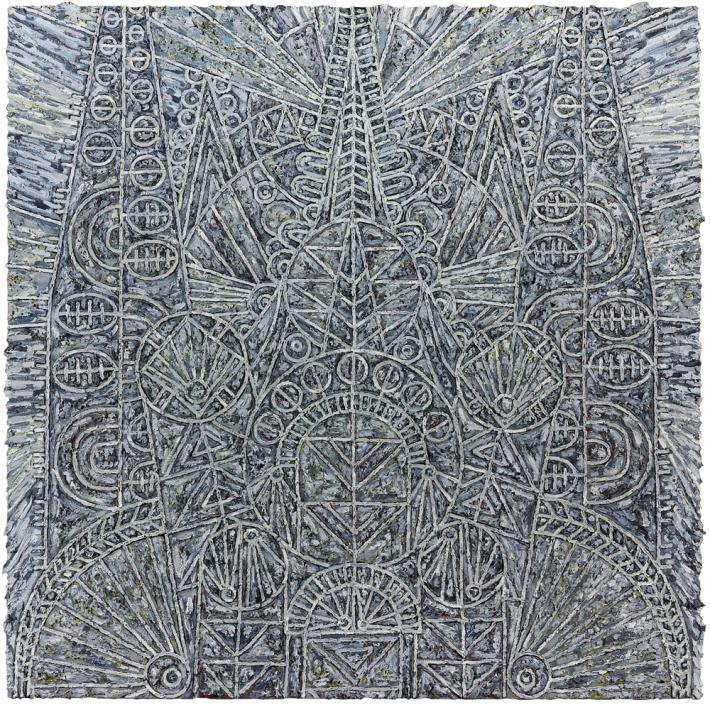 Helen Rebekah Garber | Katholikon for P., 2014, Oil on linen, 60 x 60 inches (152.4 x 152.4 cm), Courtesy of Gallery Wndi Norris